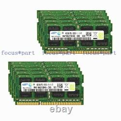 10 x 4GB DDR3 1600MHz PC3-12800S 204pin Sodimm Laptop Notebook Memory ram 1.5V