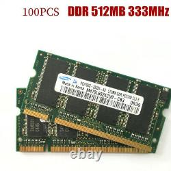 100PCS For SAMSUNG DDR 512MB 333MHz PC-2700S 512MB memory Laptop SODIMM 333 RAM