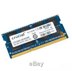 10PCS For Crucial 4GB 2RX8 PC3-10600S DDR3 1333Mhz SODIMM Laptop Memory RAM #&