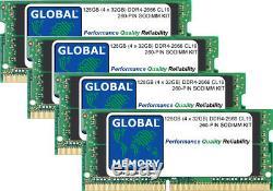 128GB (4x32GB) DDR4 2666MHz PC4-21300 260-PIN SODIMM MEMORY RAM KIT FOR LAPTOPS