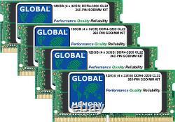 128GB (4x32GB) DDR4 3200MHz PC4-25600 260-PIN SODIMM MEMORY RAM KIT FOR LAPTOPS