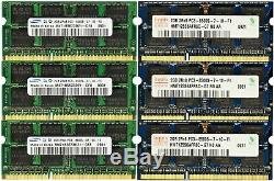 16GB 8GB 4GB Memory RAM Laptop Notebook PC3 8500 DDR3 1066 MHz 204PIN SoDIMM LOT