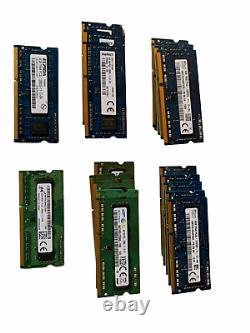 20x Micron/Samsung/SK Hynix 4GB Laptop Pull RAM Memory Sticks 1Rx8 PC3L-12800S