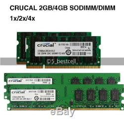 2GB 4GB 8GB 16GB PC2-6400 DDR2 800 MHz Desktop / Laptop SODIMM Memory Ram Lot