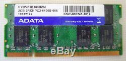 2GB DDR2-800 PC2-6400 ADATA HYOVF1B163BZM 800Mhz LAPTOP RAM MEMORY SPEICHER