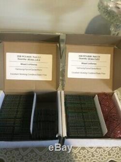 2GB DDR3 SODIMM PC3-8500 1066MHz 2.5 Laptop RAM Memory 1.5V LOT OF 80 Mixed