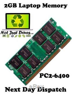 2GB PC2-6400 DDR2 Sodimm Laptop RAM Memory 1 x 2048MB Single Stick