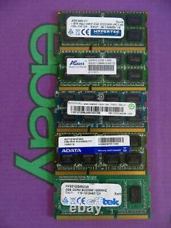 2GB PC3 8500 1066 DDR3 Sodimm Laptop RAM Memory 1x 2048MB Single Stick