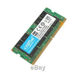 32 GB Crucial 2x16G 2RX8 DDR4-2400T 2400Mhz PC4-19200 SO-DIMM Laptop Memory RAM
