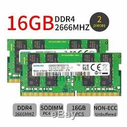 32GB 16GB 8GB 4GB DDR4 2666MHz PC4-2666V CL19 1.2V Laptop RAM For Samsung LOT UK