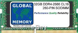 32GB (1x32GB) DDR4 2666MHz PC4-21300 260-PIN SODIMM MEMORY RAM MAC MINI (2018)
