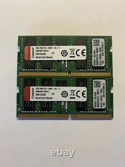32GB (2 x 16GB) Kingston PC4-2400T-E DDR4 ECC Laptop RAM Memory KVR24SE17D8/16