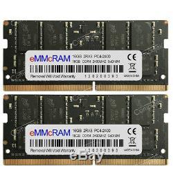32GB 2X16GB DDR4-2400MHz PC4-2400T 260Pin 1.2V CL17 Laptop SO-DIMM Memory RAM