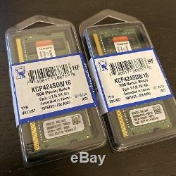32GB (2x16GB) DDR4 Kingston KCP424SD8/16 2400MHz Laptop Memory RAM PC4 260-pin