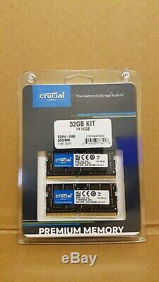32GB 2x16GB Kit 2400MHz Crucial DDR4 Laptop Ram Memory Apple iMac 27 5K 2017