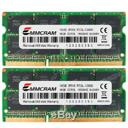 32GB 2x16GB PC3L-12800S DDR3 1600 MHz 204Pin CL11 1.35v SoDimm Laptop Memory RAM
