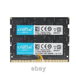 32GB Crucial 2x16GB 2RX8 DDR4-2666V PC4-21300 1.2V SO-DIMM Laptop Memory RAM &FF