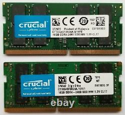 32GB Crucial 2x16GB kit 2400 MHz DDR4 Laptop RAM Memory Apple iMac 5K 2017
