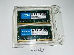 32GB Crucial DDR4-2666 SODIMM (2 x 16GB) CT16G4S266M Laptop RAM Memory -Free P+P
