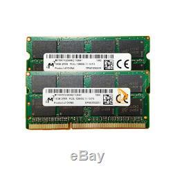 32GB Micron 2x 16GB 2RX8 PC3L-12800 DDR3-1600Mhz Laptop RAM SODIMM Memory 204Pin