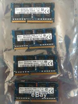 32GB SK Hynix (4x8GB) PC3-12800S DDR3 SODIMM HMT41GS6MFR8C Laptop Memory Ram