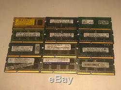 48GB JOBLOT OF 12 X 4GB DDR3 PC3 PC3L STICKS Laptop SODIMM RAM Memory 204-Pin