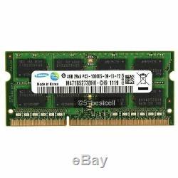 4GB 8GB 16GB 32GB DDR3 PC3-10600S 1333MHz 204pin Laptop SODIMM Memory Ram LOT