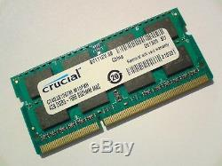 4GB DDR3-1066 PC3-8500 CRUCIAL CT4G3S1067M. M16FKR 1066Mhz LAPTOP RAM MEMORY