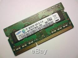 4GB DDR3 1333 Mhz PC3-10600S SAMSUNG M471B5173BH0-CH9 LAPTOP SODIMM RAM MEMORY