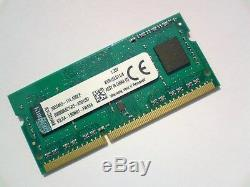 4GB DDR3L 1600 PC3L-12800 1600Mhz KINGSTON KVR16LS11/4 LAPTOP RAM MEMORY SODIMM