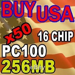 50 LOT 256MB 256 16 Chip PC100 144pin 144-pin sodimm laptop Memory Ram SD SDRAM