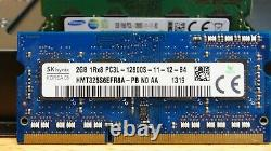 50 LOT 2GB PC3L-12800S DDR3-1600MHz MEMORY RAM for LAPTOPS MIXED BRANDS with Tray