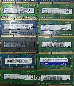 50 x 4GB DDR3L PC3L 1.35v Laptop Notebook Memory Ram SODIMM Job Lot All Tested