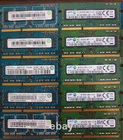 50 x 4GB DDR3L PC3L 12800s Laptop Notebook Memory Ram SODIMM Job Lot All Tested