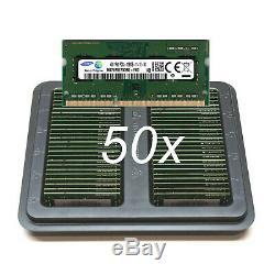50x Lot SAMSUNG 4GB 1Rx8 DDR3 PC3L-12800S Laptop RAM Memory // Larger Qty Avail