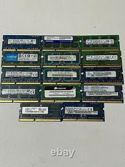 56GB JOBLOT OF 14 X 4GB DDR3 PC3 PC3L STICKS Laptop SODIMM RAM Memory 204-Pin