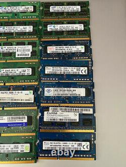 56GB JOBLOT OF 28 X 2GB DDR3 PC3 PC3L STICKS Laptop SODIMM RAM Memory 204-Pin