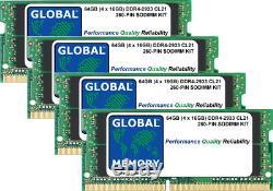 64GB (4 x 16GB) DDR4 2933MHz PC4-23400 260-PIN SODIMM MEMORY RAM KIT FOR LAPTOPS