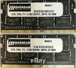 64GB DDR4 RAM for Laptop iMac Mac mini 2 x 32GB Memory Kit 2666Mhz 260 Pin
