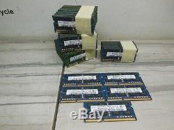 65 sticks 260gb (65 X 4GB) LAPTOP MEMORY RAM DDR3 PC3-12800S HYNIX ETC BRANDS
