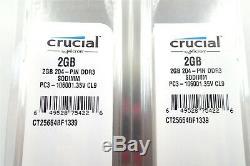 68GB(34x2GB) New Crucial PC3-10600 DDR3 1333MHz SO-DIMM Laptop Memory RAM