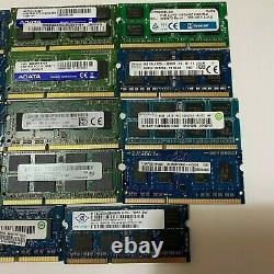 76GB JOBLOT OF 19 X 4GB DDR3 PC3 PC3L STICKS Laptop SODIMM RAM Memory 204-Pin