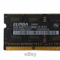 8GB DDR3 PC3-12800S DDR3 1600 MHz 204 pin So-DIMM Laptop Memory Ram 1.5V Lot