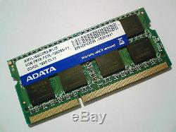8GB DDR3L-1600 PC3L-12800 1600Mhz ADATA AM1L16BC8R2-B1JS LAPTOP RAM MEMORY