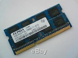 8GB DDR3L-1600 PC3L-12800 1600Mhz ELPIDA EBJ81UG8EFU0-GN-F LAPTOP RAM MEMORY