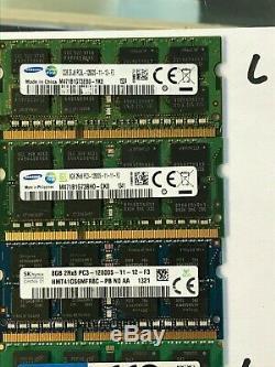 8GB PC3 DDR3 Laptop Memory RAM Lot Of 14-30 Days Money Back