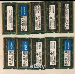 8gb. Laptop Memory Ram DDR3. Samsung/Micron/Kingston. Mixed Lot Of 10. Used