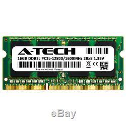A-Tech 16GB PC3-12800 Laptop SODIMM DDR3 1600 MHz Memory RAM PC3L DDR3L 1x 16G