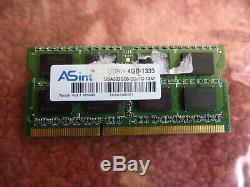 Asint 4GB PC3 10600 1333 DDR3 Sodimm Laptop RAM Memory 1 x 4096MB Single Stick