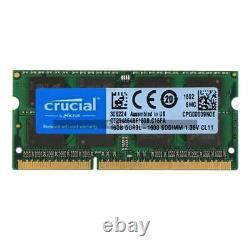 Crucial 16GB 32GB DDR3L 1600MHz PC3L-12800 204PIN SODIMM Laptop Memory Ram 1.35V